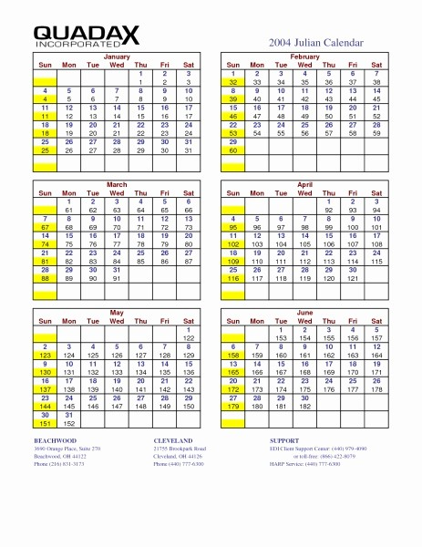 2018 Calendar with Julian Dates New Julian Date Calendar 2016 Quadax