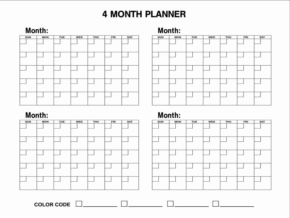 2018 Four Month Calendar Template Beautiful 6 Best Of Printable 2016 Calendar 4 Month Per Page
