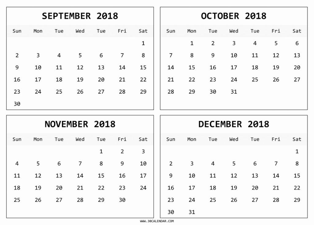 2018 Four Month Calendar Template Inspirational Blank 4 Month Calendar 2018