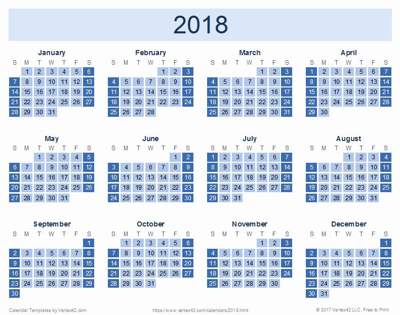 2018 Four Month Calendar Template Luxury 2018 Calendar Templates and Pdfs