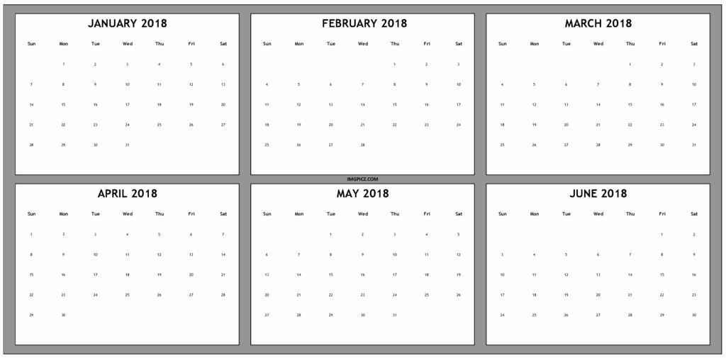 2018 Four Month Calendar Template New June 2018 Calendar Cute