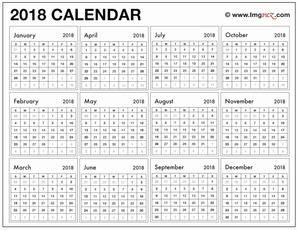 2018 Month by Month Calendar Lovely Download 12 Month Calendar Template 2018