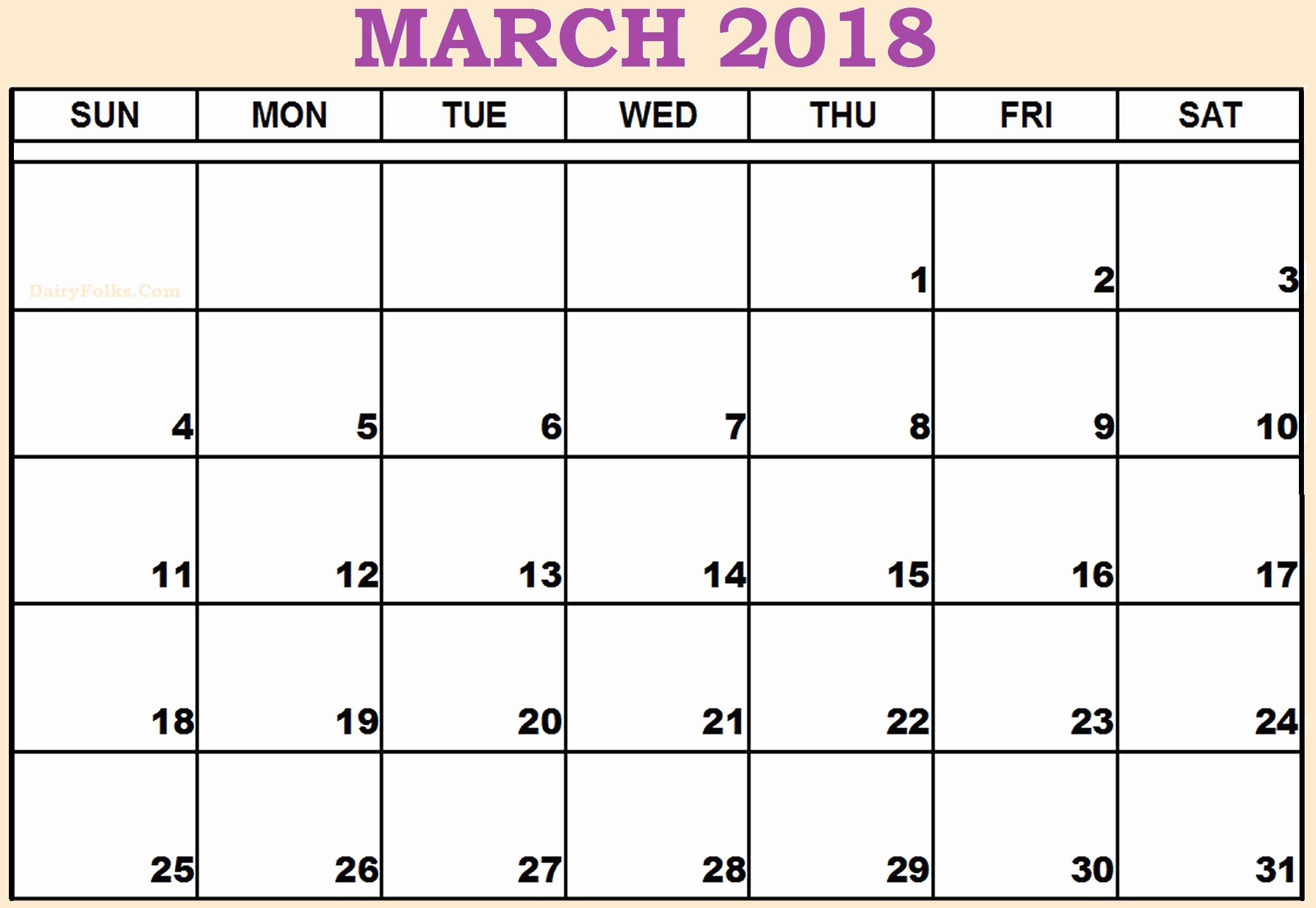 2018 Month by Month Calendar Luxury March 2018 Monthly Calendar Printable