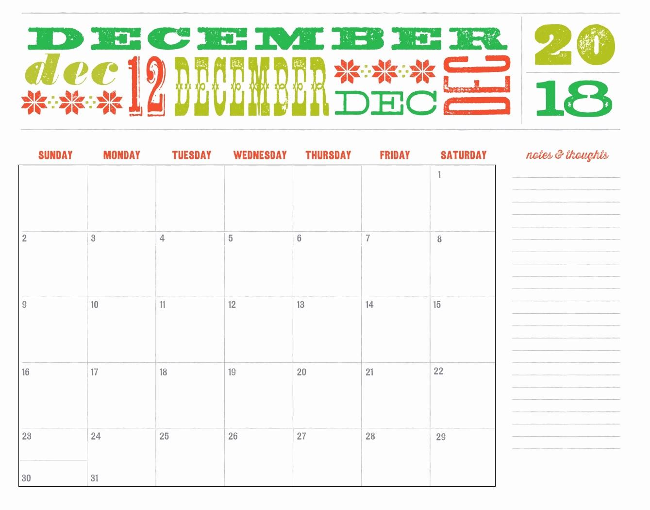2018 Month by Month Calendar Luxury Twelve 12 Months 2018 Calendar
