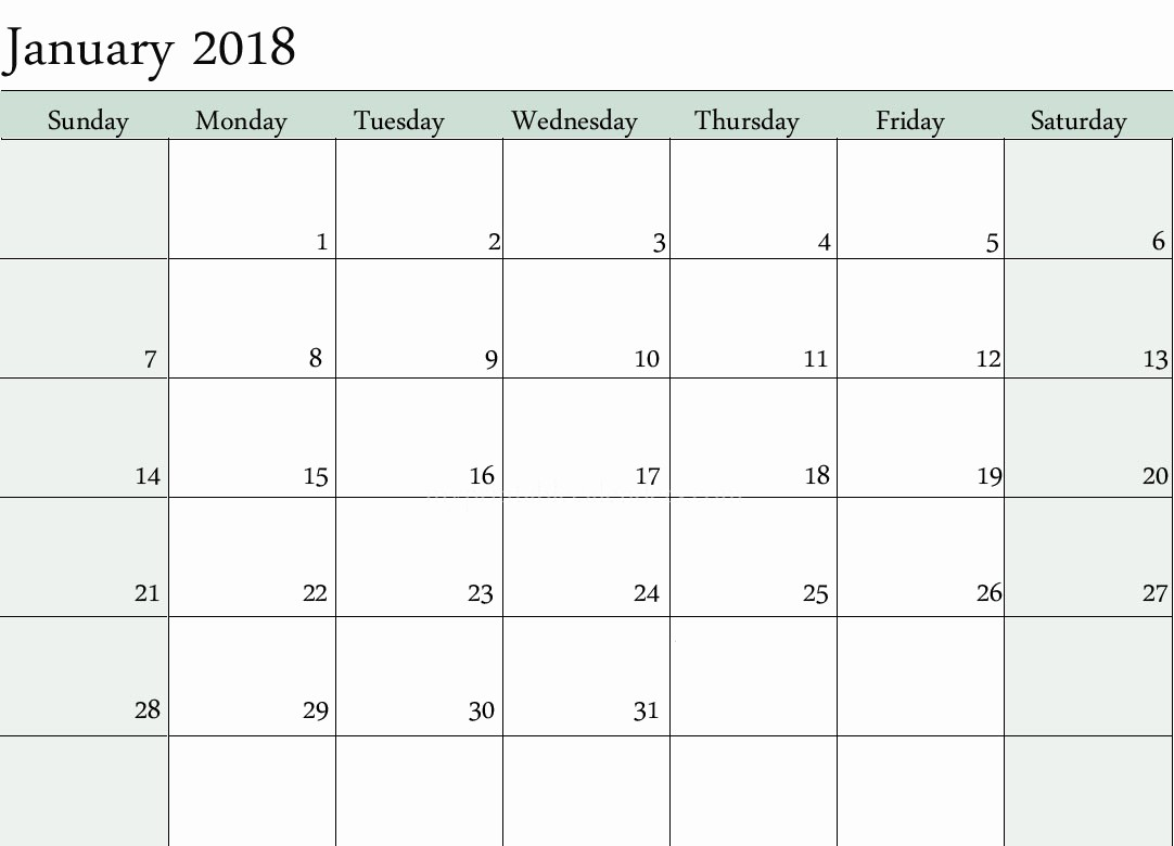 2018 Month by Month Calendar New 12 Monthly Calendar 2018