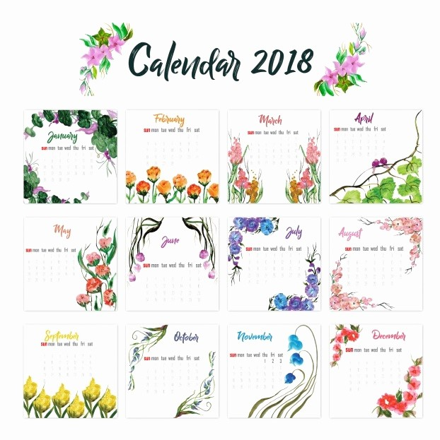 2018 Year Calendar One Page Awesome 2018 Yearly Printable Calendar