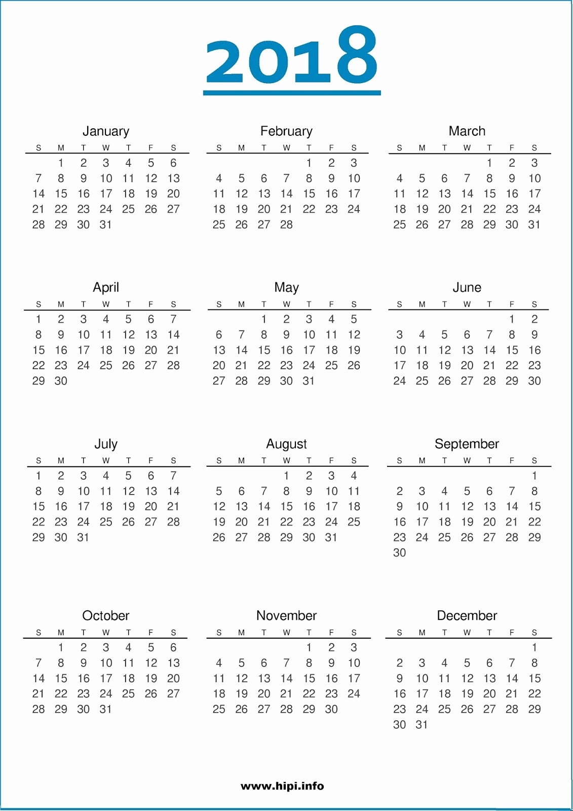 2018 Year Calendar One Page Beautiful Twitter Headers Covers Wallpapers Calendars