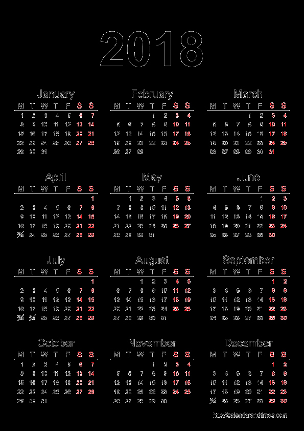 2018 Year Calendar One Page Luxury 2018 Calendar E Page
