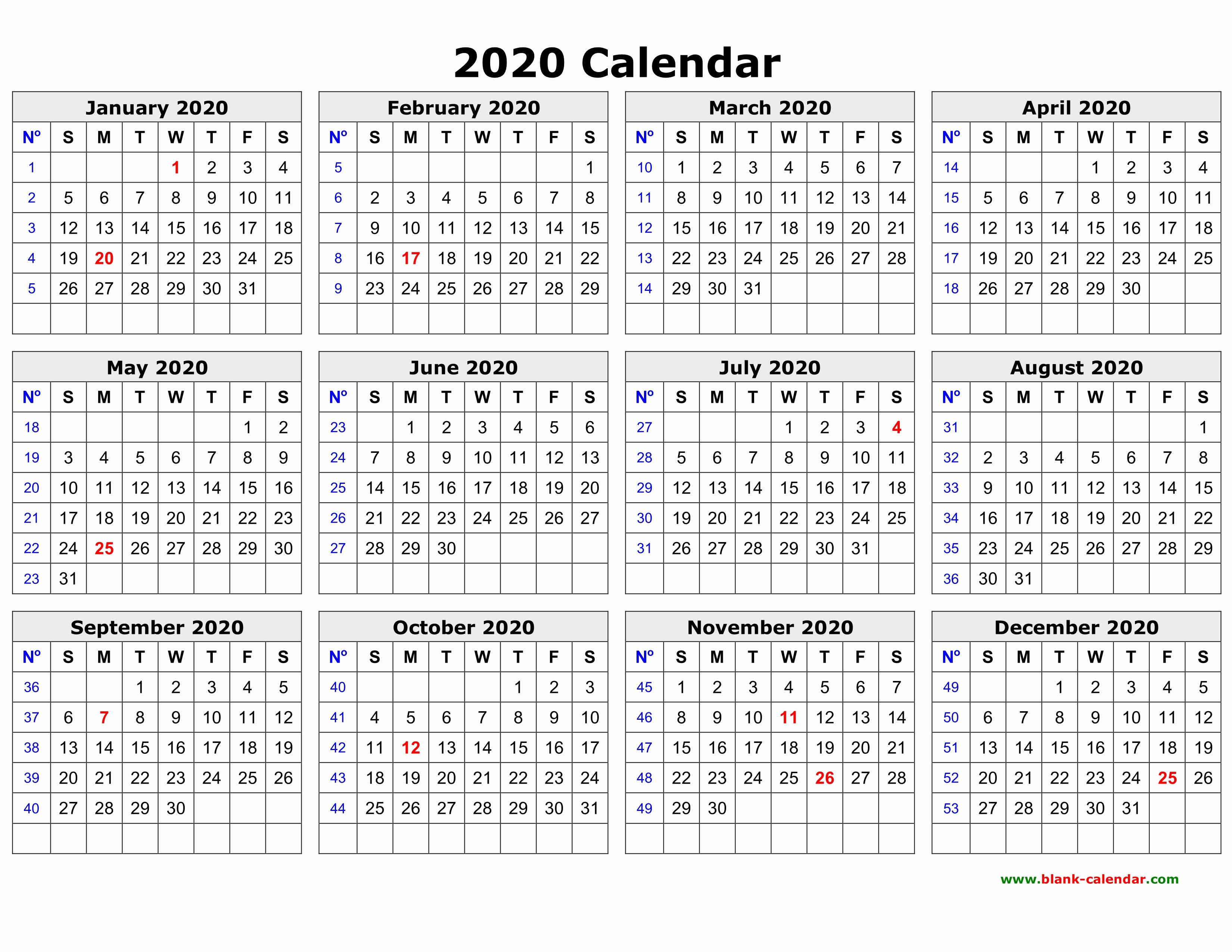2019 and 2020 Calendar Printable Awesome Free Download Printable Calendar 2020 In One Page Clean
