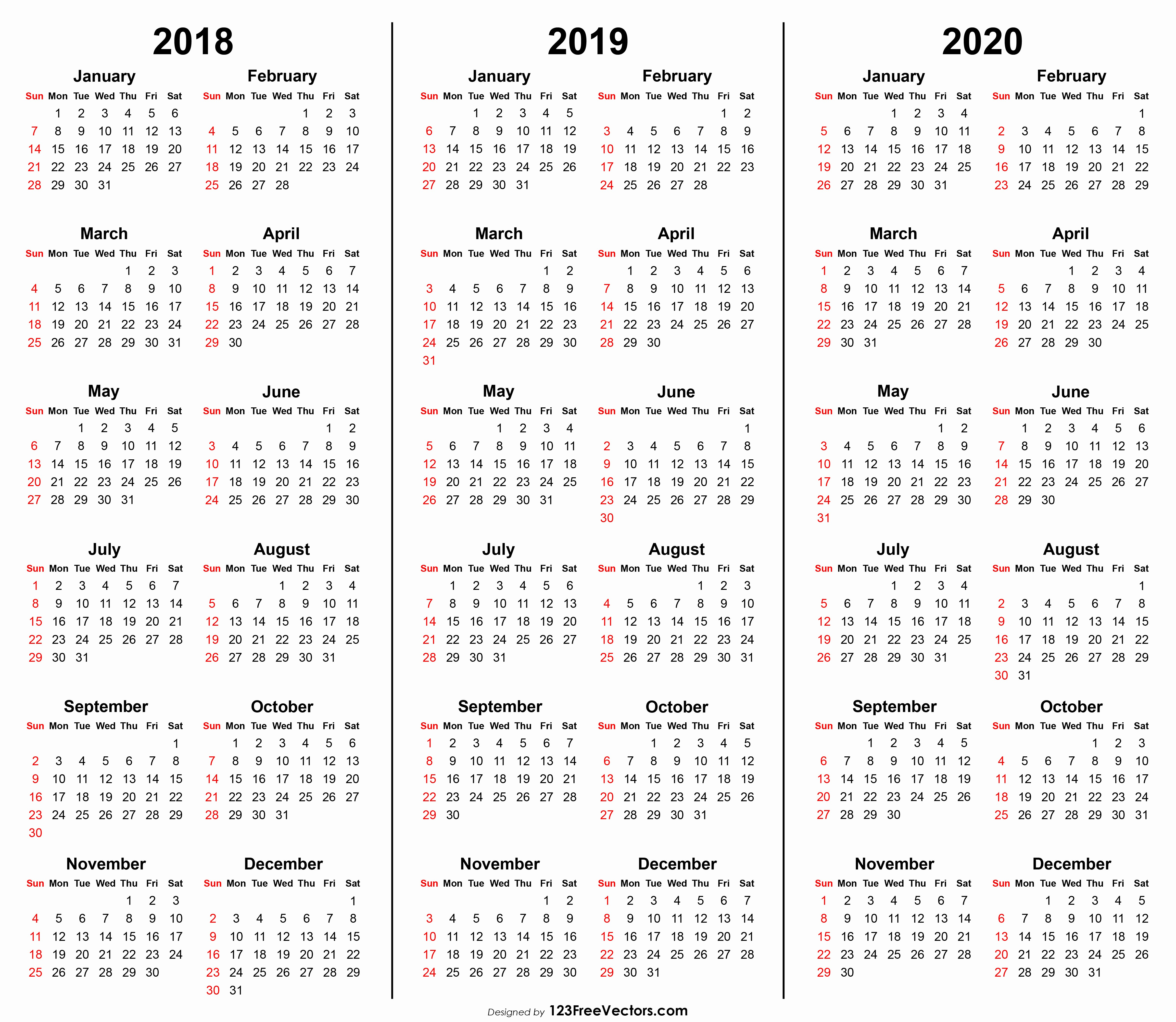 graphic about Homeschool Calendar Printable called 2019 and 2020 Calendar Printable Amazing Totally free Printable