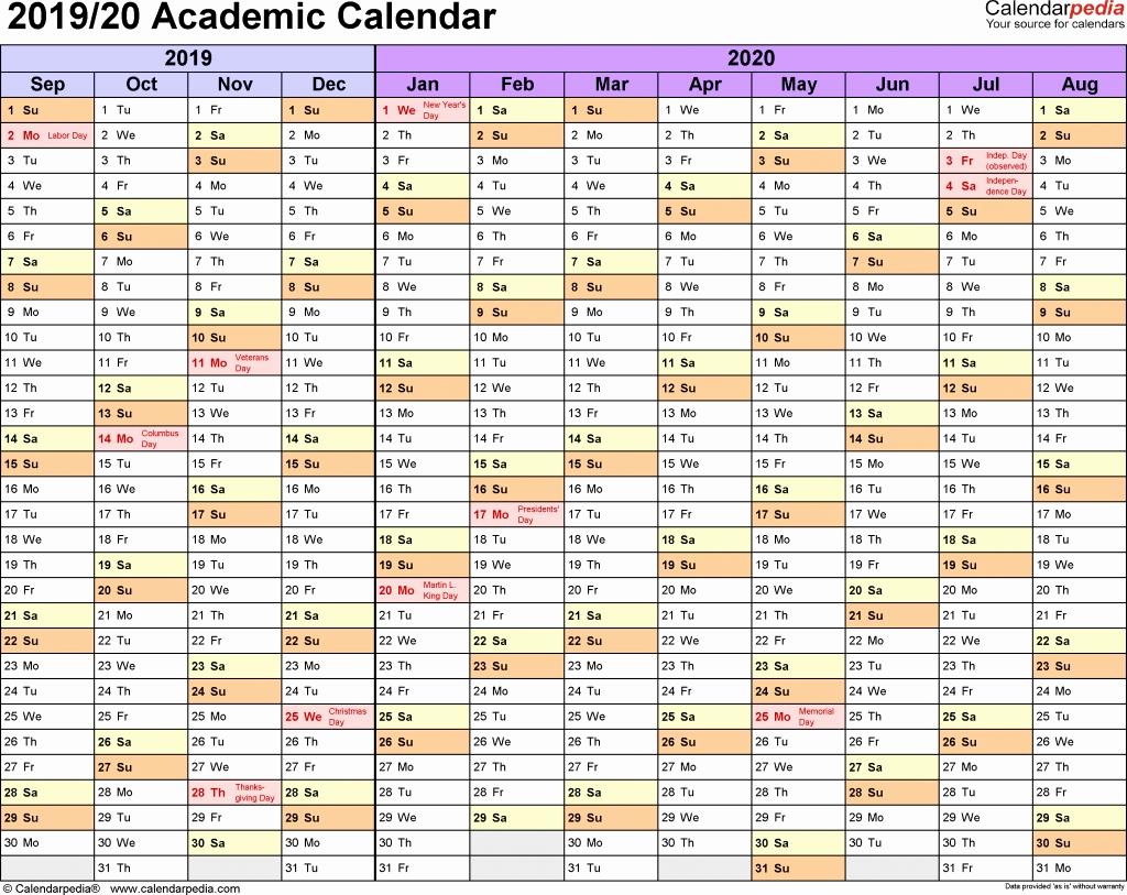 2019 and 2020 Calendar Printable Beautiful 2019 and 2019 School Calendar Printable