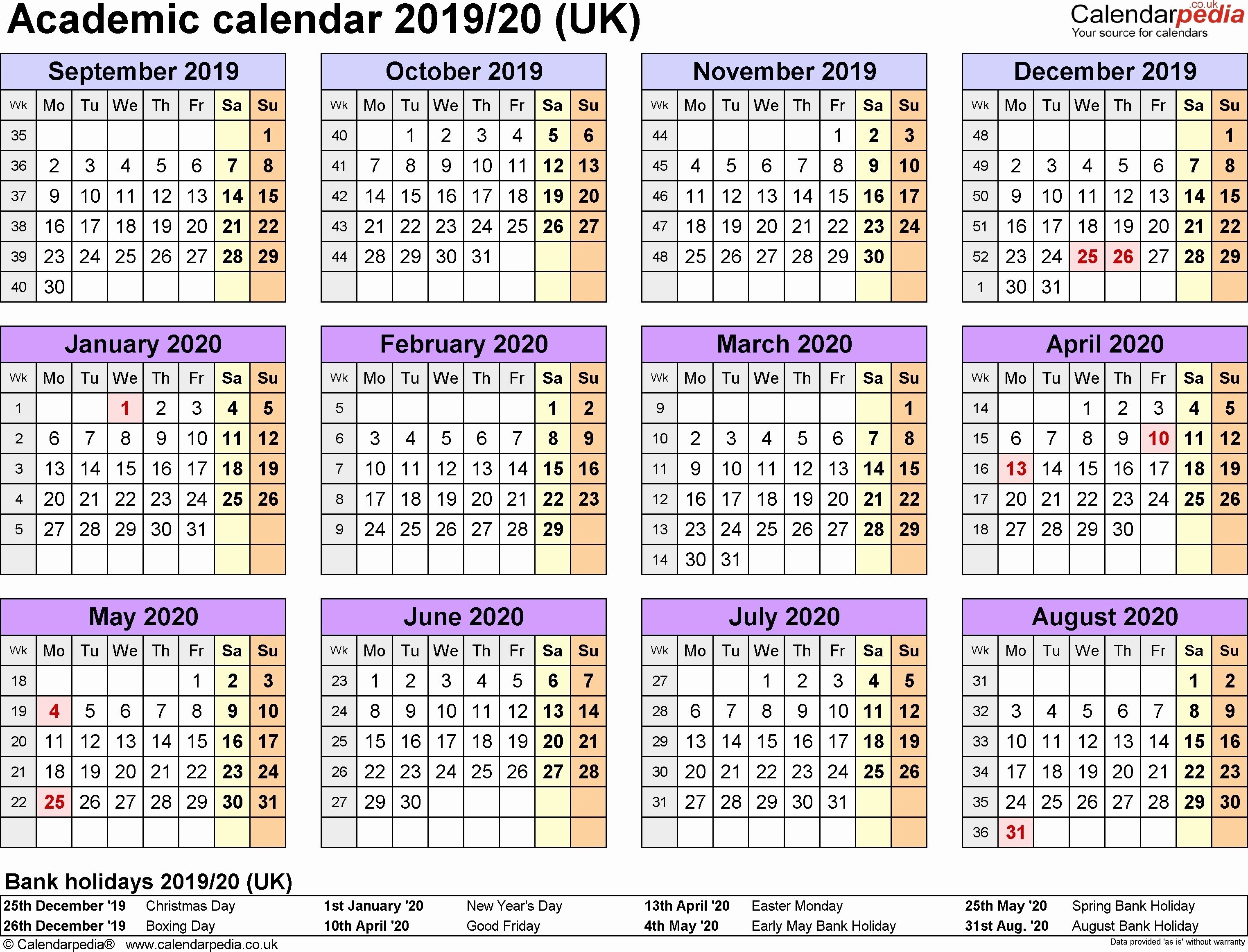 2019 and 2020 Calendar Printable Best Of Info for the Purpose 2019 and 2020 Calendar Planner