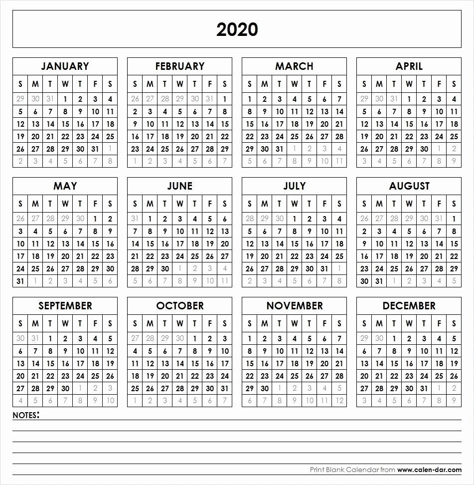 2019 and 2020 Calendar Printable Fresh 2020 Printable Calendar Yearly Calendar