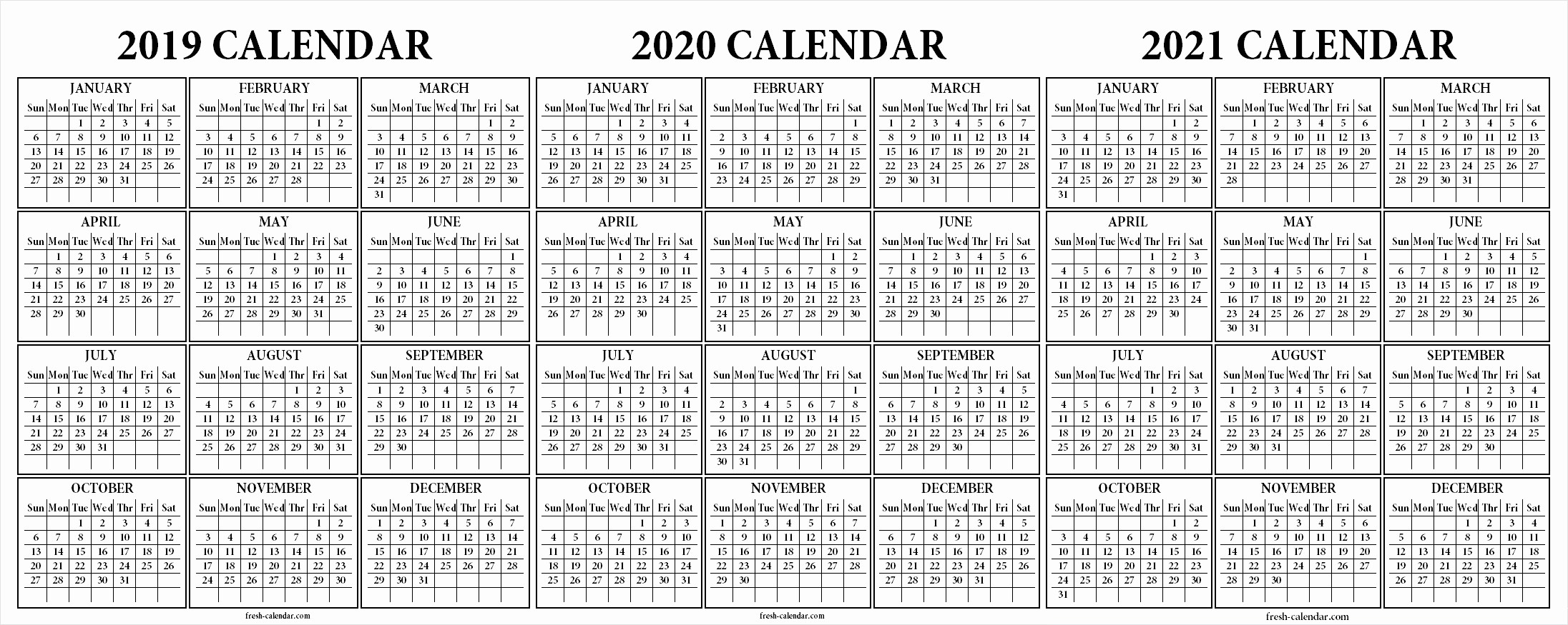 2019 and 2020 Calendar Printable Fresh Three Year Calendars for 2018 2019 2020 Uk Pdf Swifte
