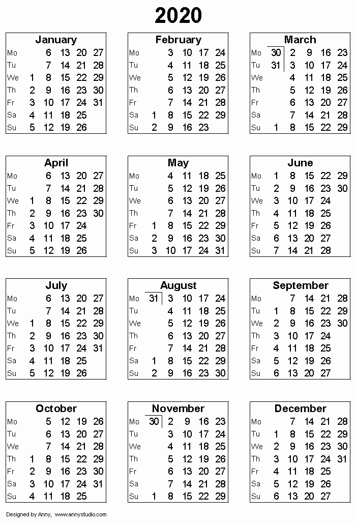 2019 and 2020 Calendar Printable Luxury Free Printable Calendars and Planners 2019 2020 2021