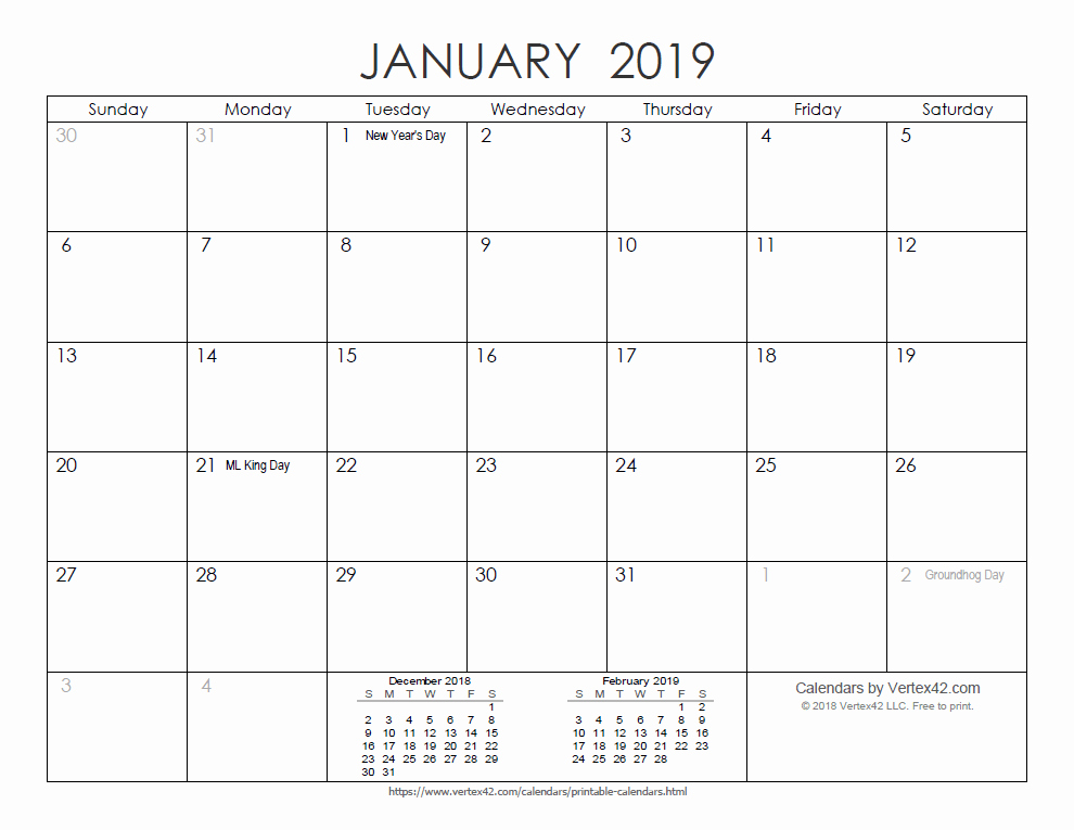 2019 Printable Calendar by Month Awesome Free Printable Calendar Printable Monthly Calendars