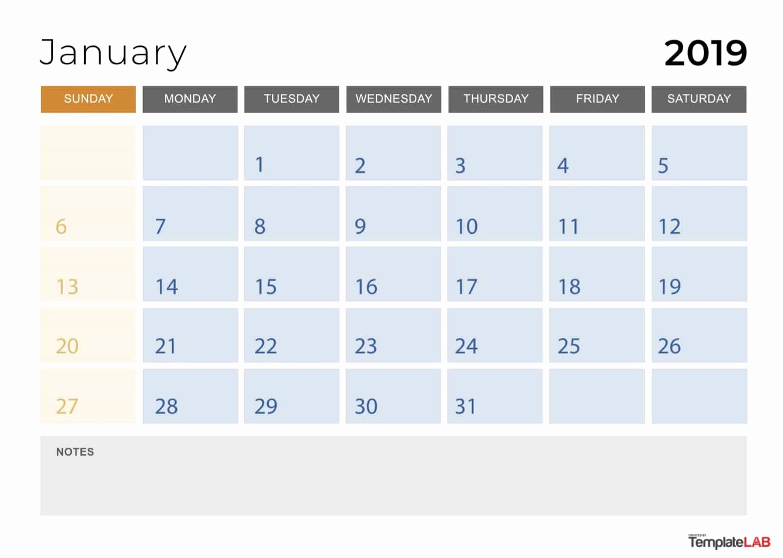 2019 Printable Calendar by Month Fresh 2019 Printable Calendars [monthly with Holidays Yearly