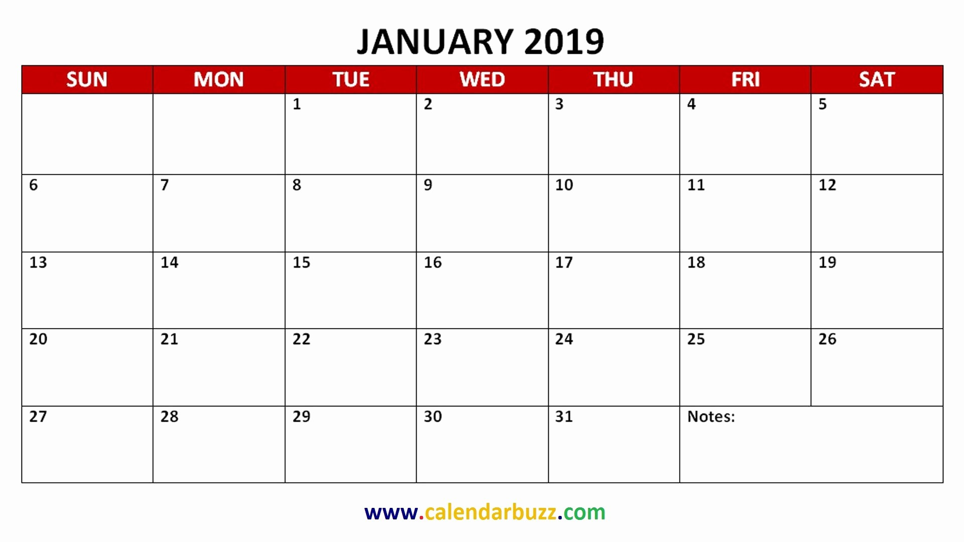 2019 Printable Calendar by Month Lovely Free 2019 Pdf Printable Calendar Monthly