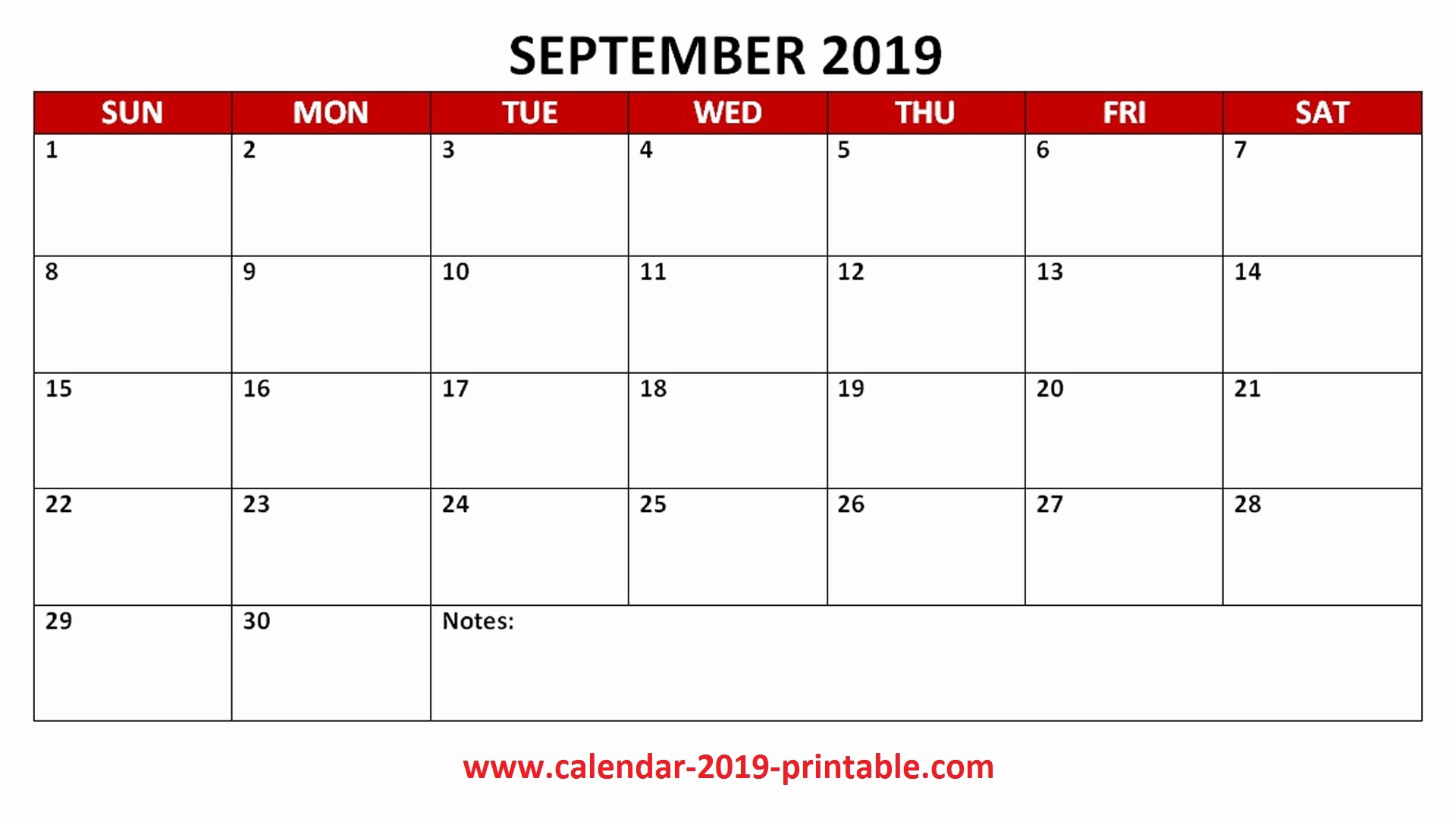 2019 Printable Calendar by Month Luxury September 2019 Calendar Printable Templates