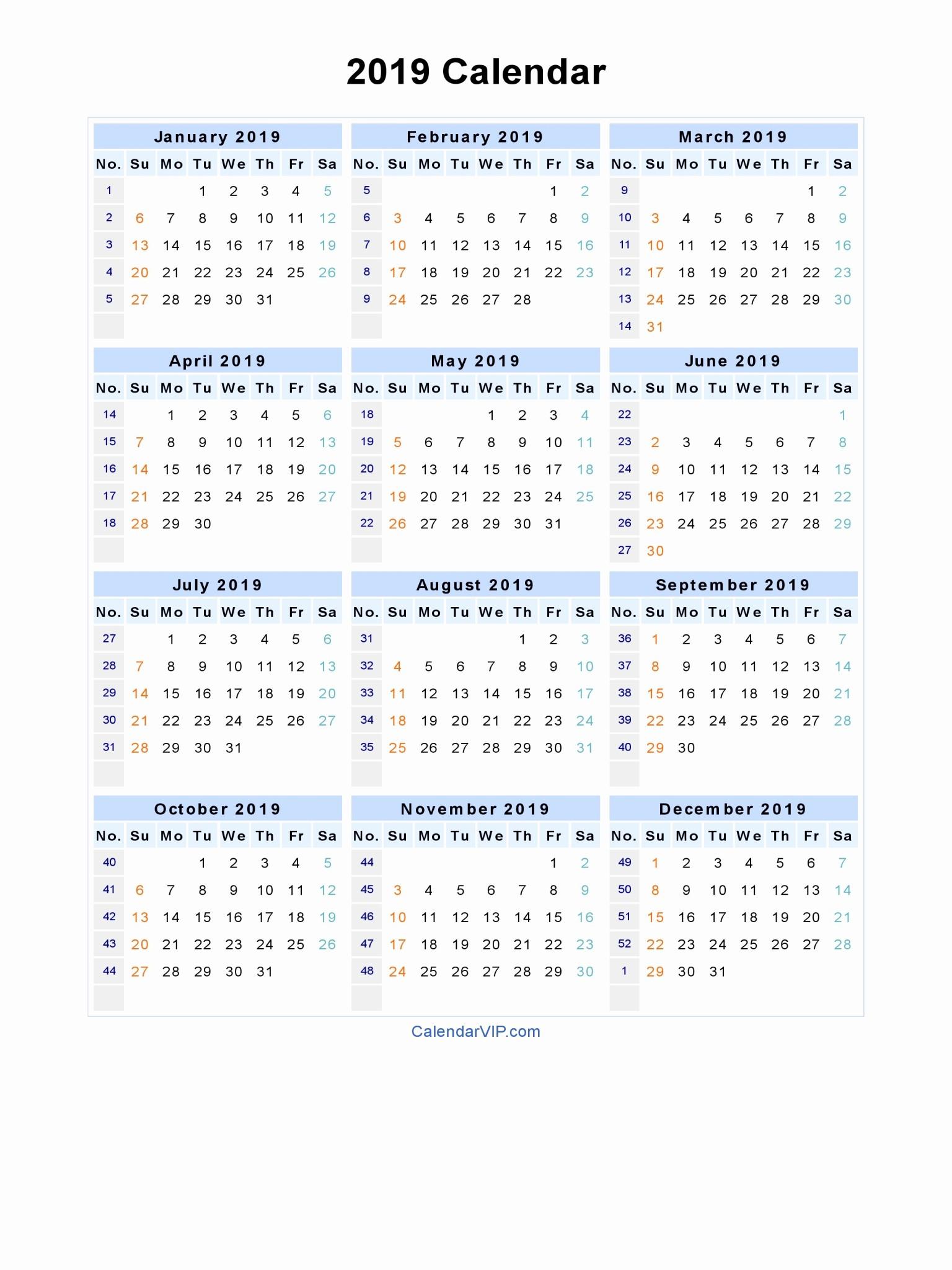 2019 Word Calendar with Holidays Awesome 2019 Calendar Word