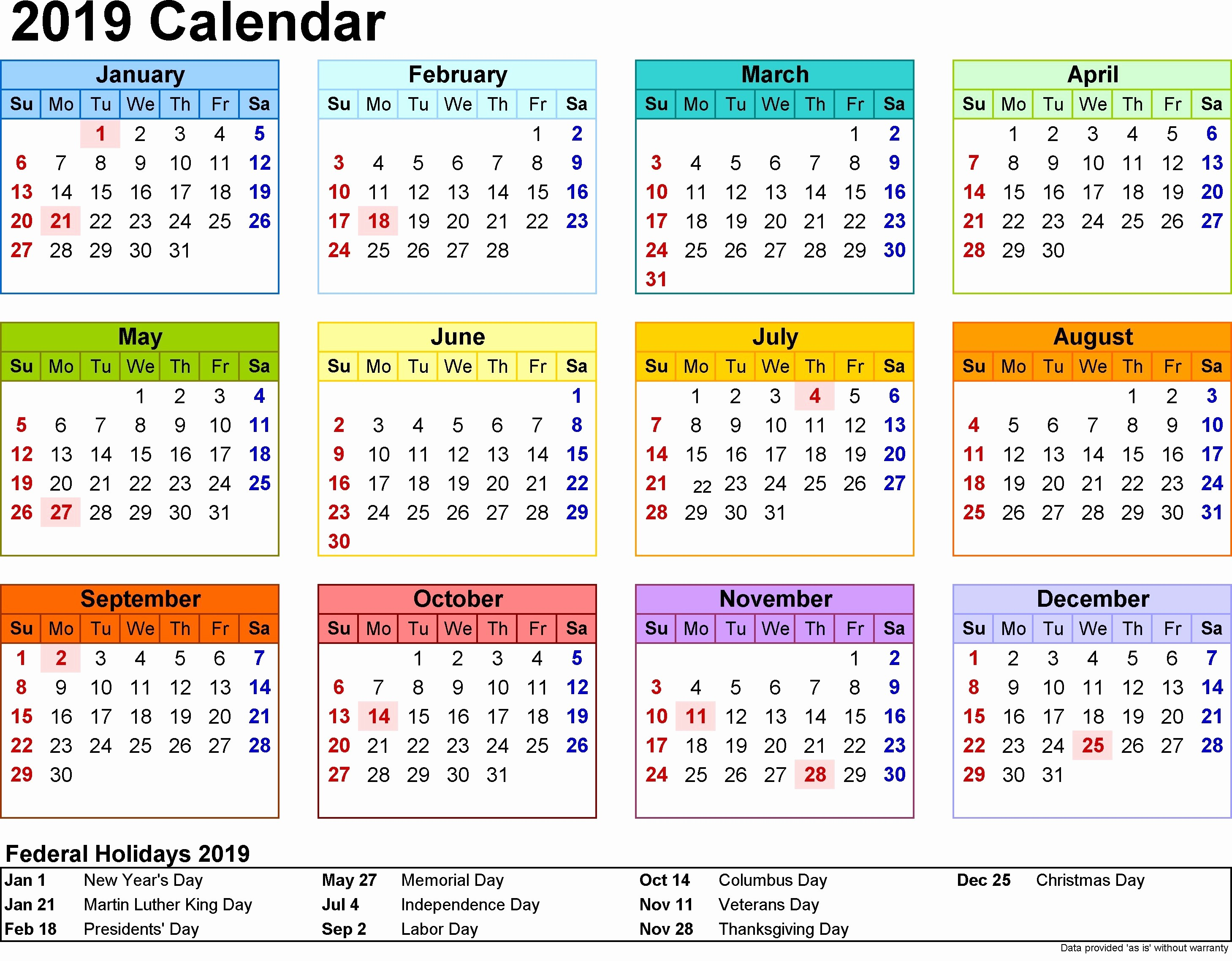 2019 Word Calendar with Holidays Awesome Free Printable Calendar 2019 with Indonesia Holidays