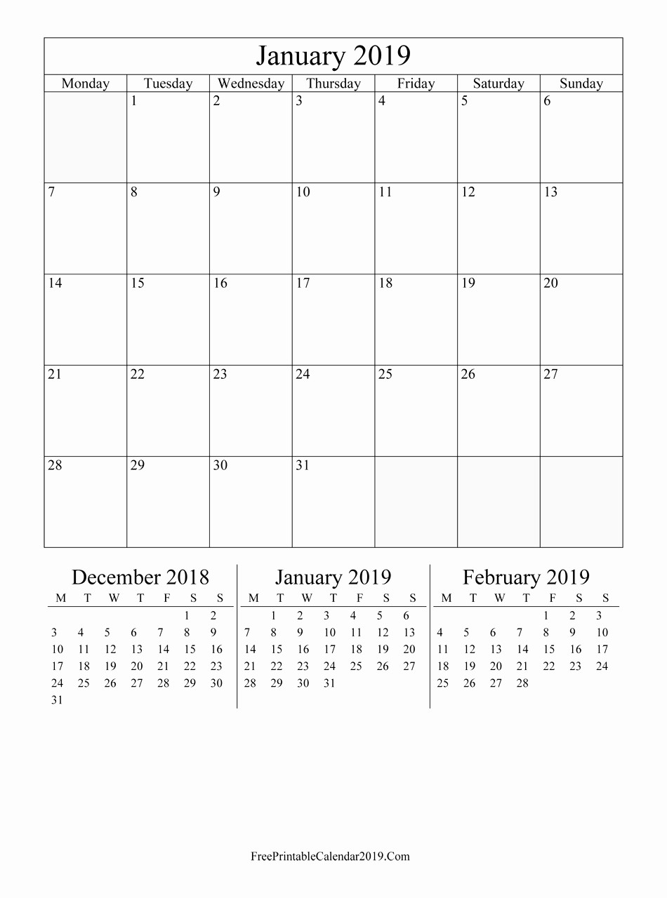 2019 Word Calendar with Holidays Awesome Jan 2019 Calendar Printable Pdf Free Printable Calendar