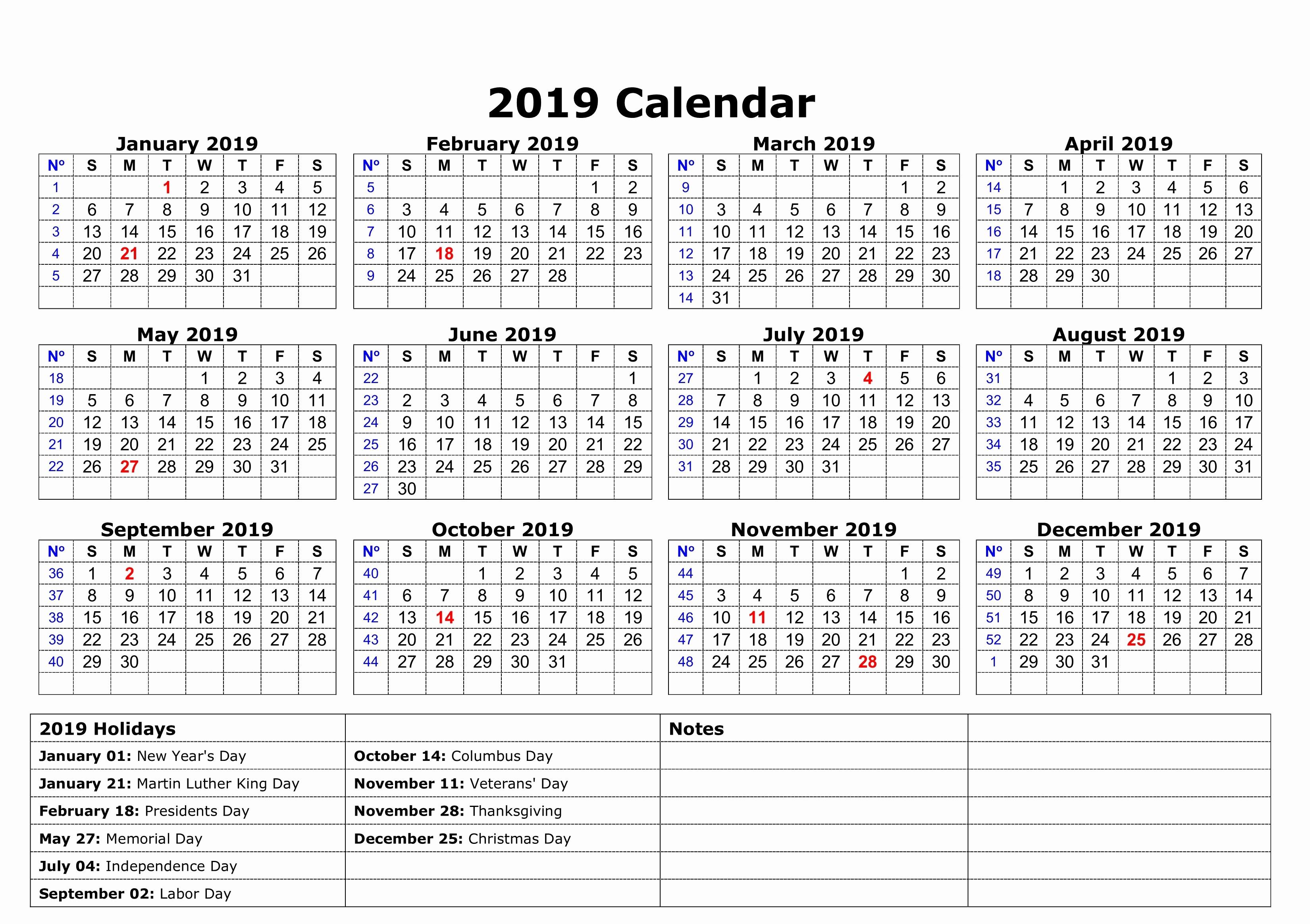 2019 Word Calendar with Holidays Beautiful Austin Calendar 2019 Pdf Excel Word Template Free
