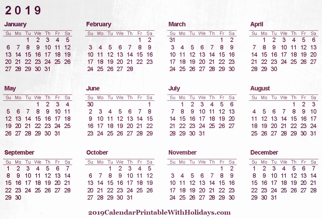 2019 Word Calendar with Holidays Beautiful Calendar 2019 Archives 2019 Calendar Printable with Holidays