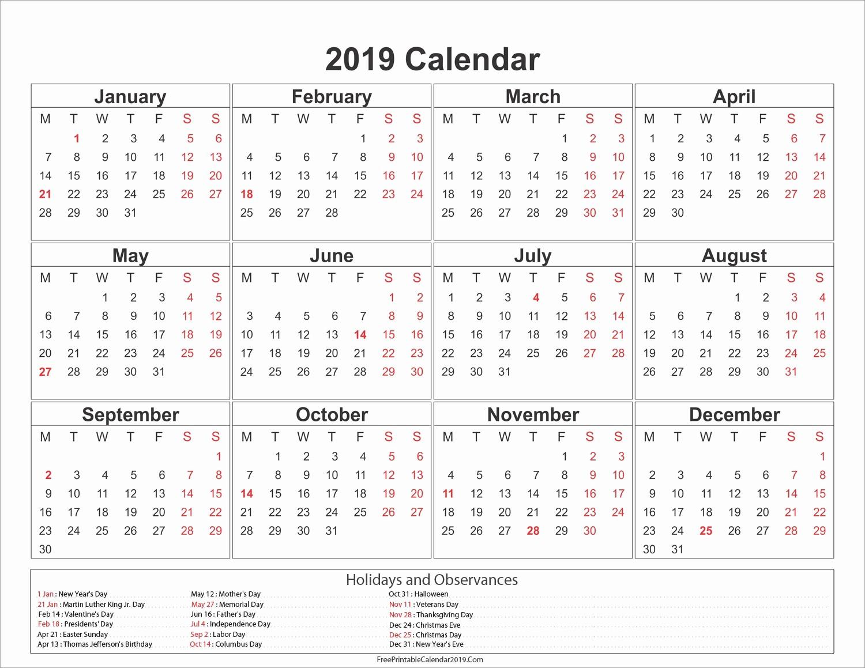 2019 Word Calendar with Holidays Beautiful Free Printable Calendar 2019 with Indonesia Holidays