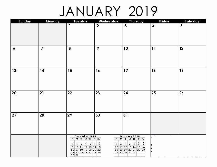 2019 Word Calendar with Holidays Inspirational January 2019 Calendar 2019 Calendar Printable with