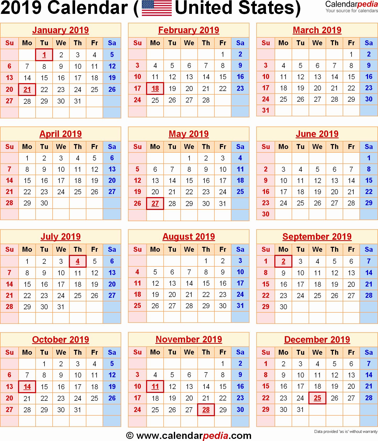 2019 Word Calendar with Holidays Lovely 2019 Calendar with Holidays