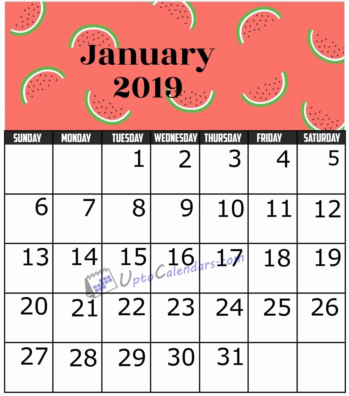 2019 Word Calendar with Holidays New January 2019 Calendar Printable Template with Holidays Pdf