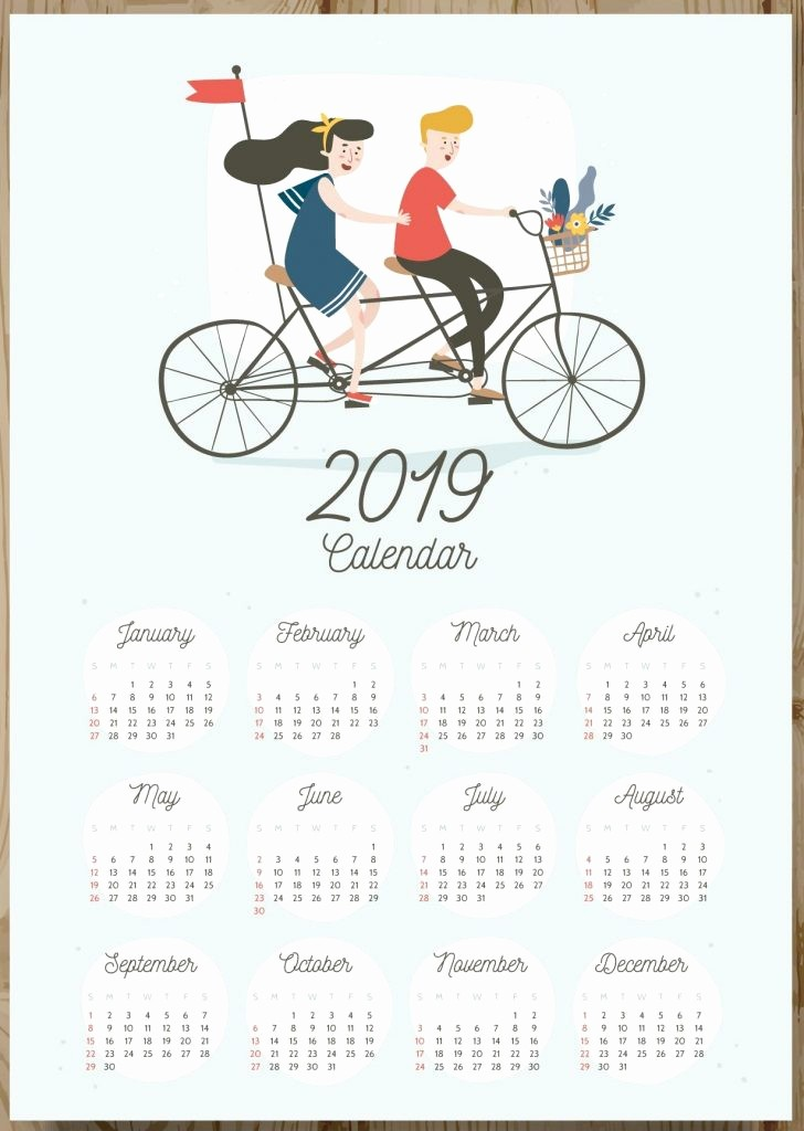 2019 Yearly Calendar One Page Best Of Free 2019 E Page Calendar Printable