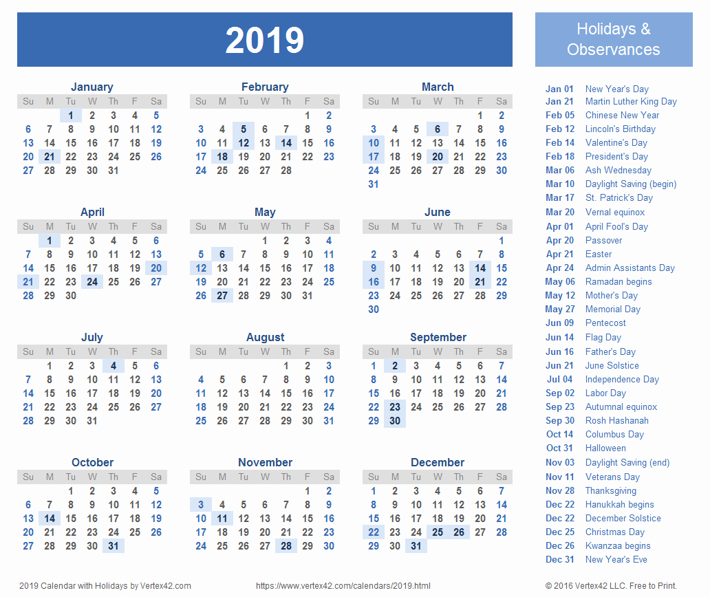 2019 Yearly Calendar One Page Fresh 2019 Calendar E Page