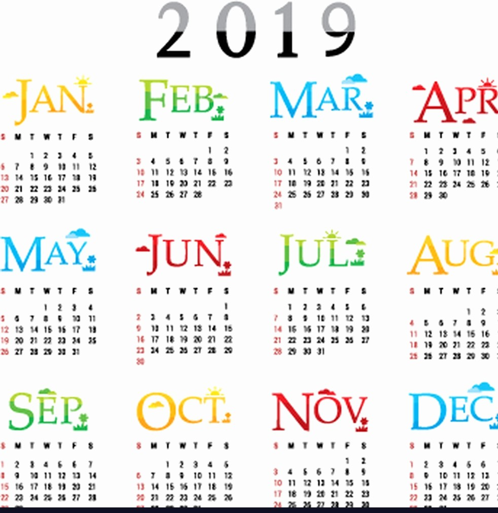 2019 Yearly Calendar One Page Unique Calendar 2019 E Page with Download Template February