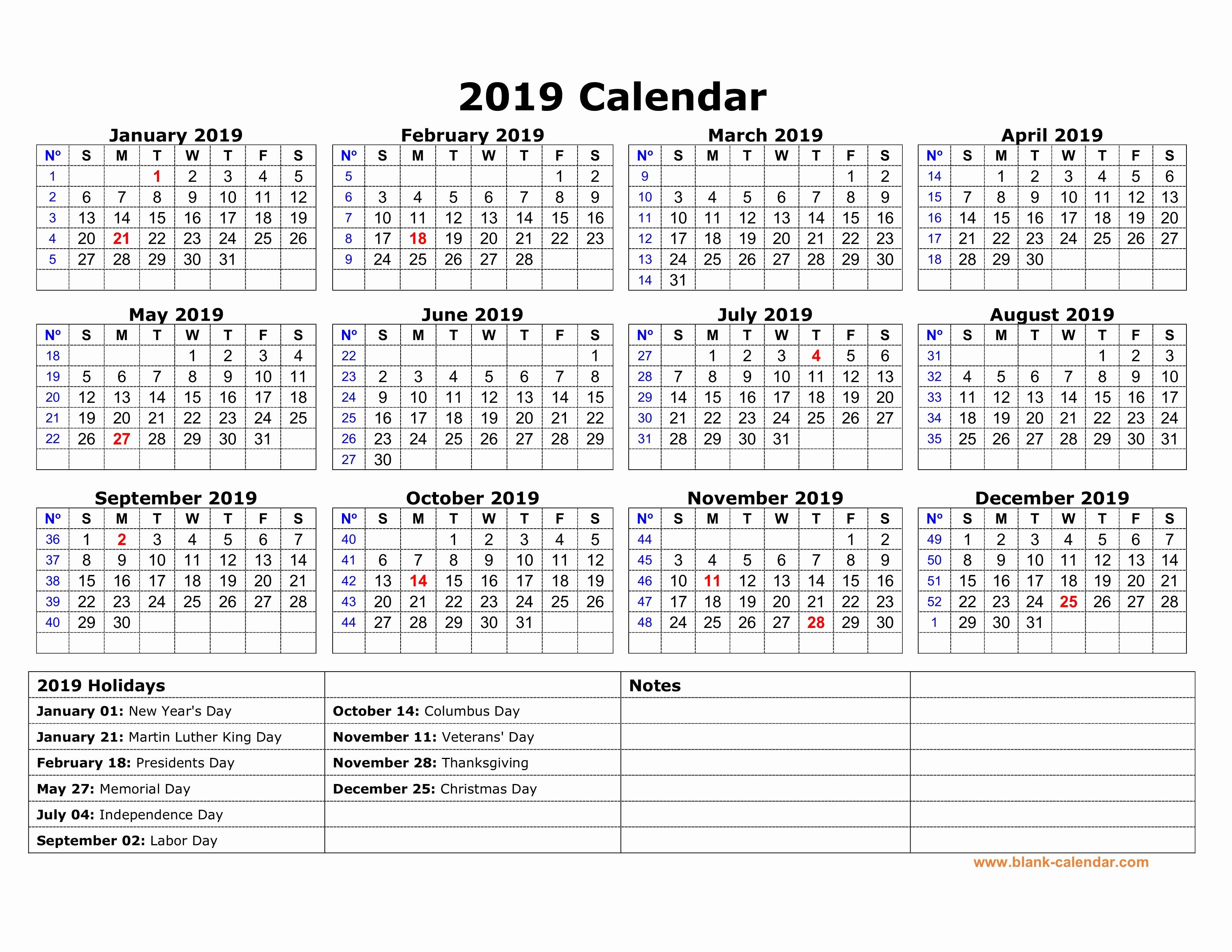 2019 Yearly Calendar with Holidays Fresh Free Yearly Calendar Uk National Holidays 2019 Templates