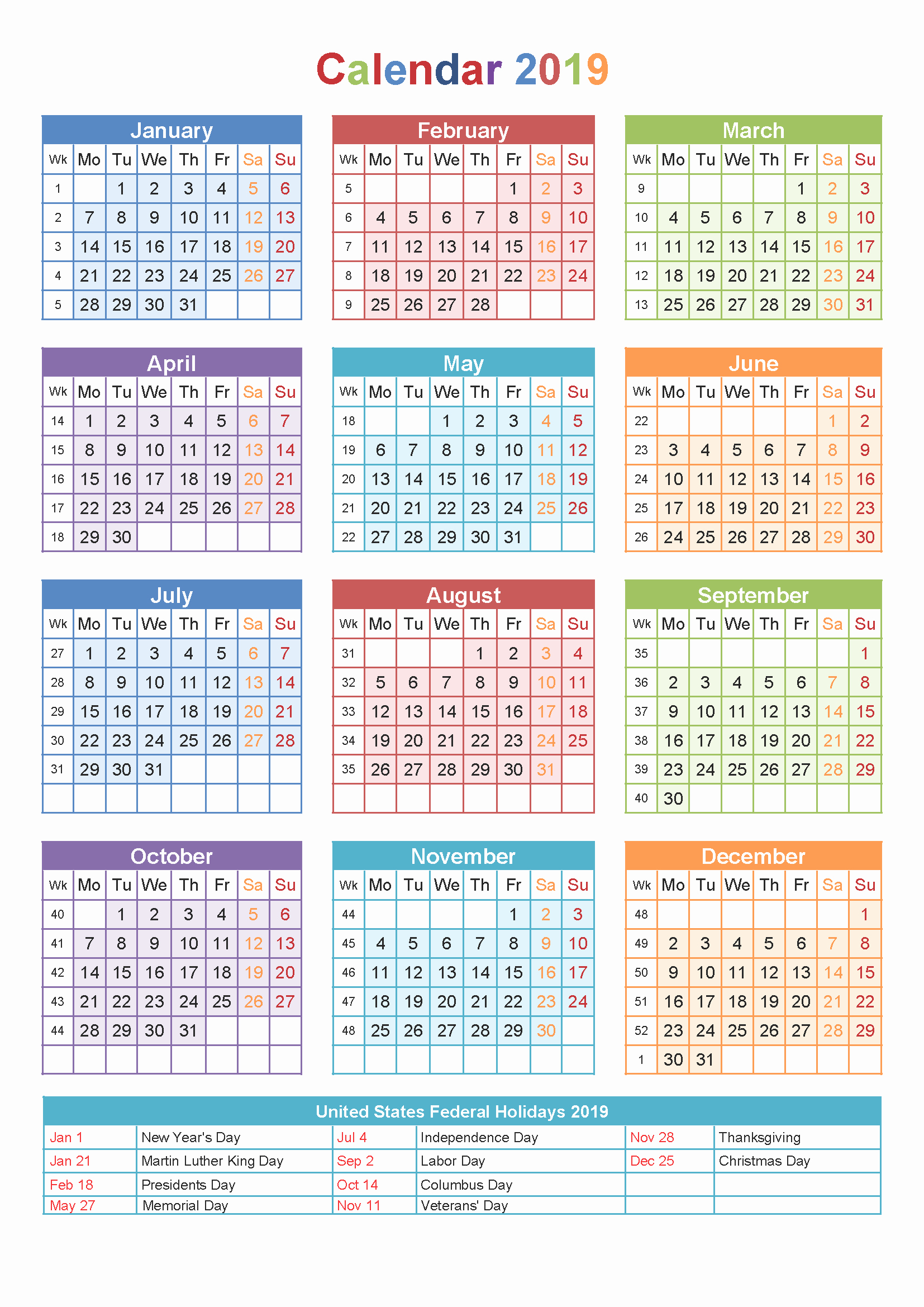 2019 Yearly Calendar with Holidays Luxury Yearly Calendar 2019 Template with Singapore Holidays Free