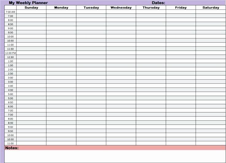 24 Hour Daily Schedule Template Elegant 7 Day 24 Hour Calendar Printable Template