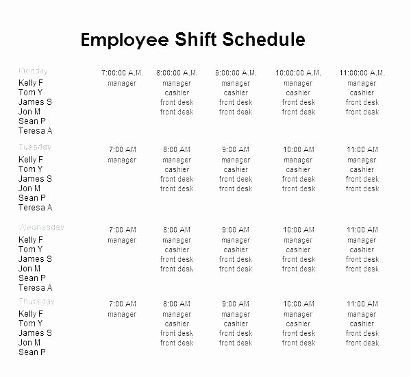 24 Hour Employee Schedule Template Fresh 24 Hour Employee Schedule Template – Thalmus
