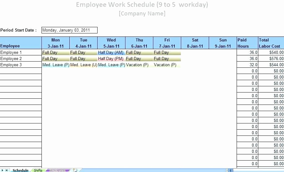 24 Hour Employee Schedule Template Fresh Work Schedule Template Free Daily Monthly 24 Hour Roster