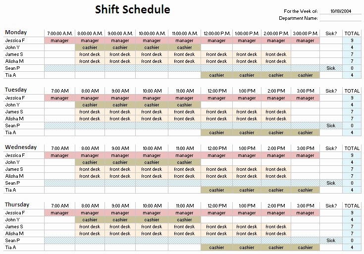 24 Hour Employee Schedule Template Lovely 24 Hour Shift Schedule Template