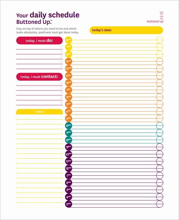 24 Hour Employee Schedule Template Luxury 22 24 Hours Schedule Templates Pdf Doc Excel
