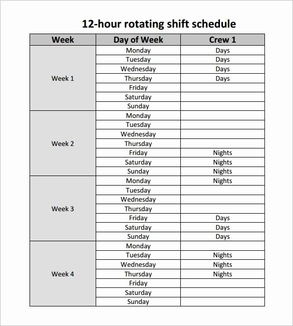 24 Hour Employee Schedule Template Unique 24 7 Shift Schedule Template Lorgprintmakers