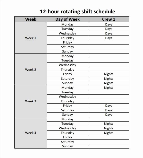 24 Hour Employee Schedule Template Unique 24 7 Shift Schedule Template Lorgprintmakers