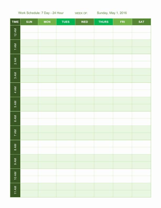 24 Hour Employee Schedule Template Unique 24 Hour Employee Schedule Template Templates Resume