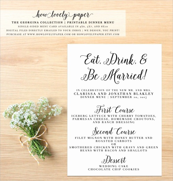 3 Course Meal Menu Templates Awesome Dinner Party Menu Template 16 Download Documents In Psd
