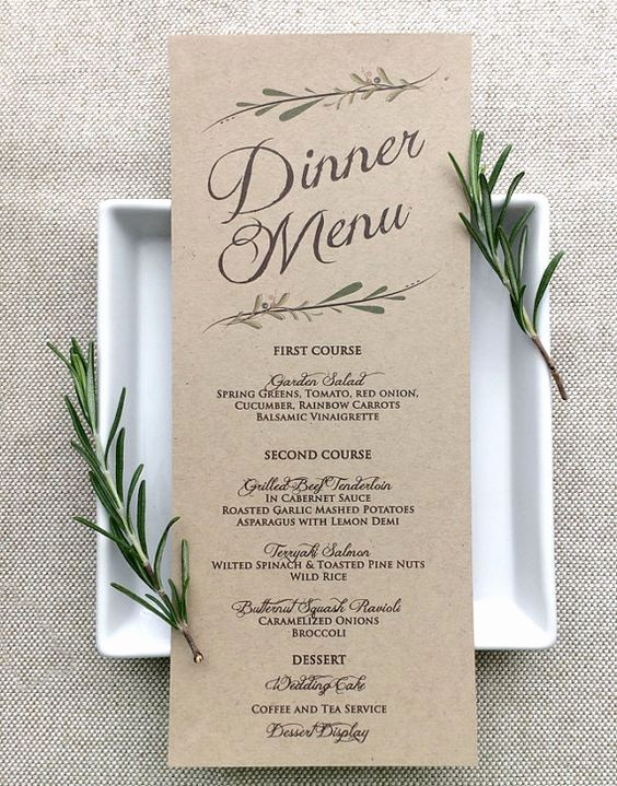 3 Course Meal Menu Templates Beautiful 60 Gorgeous Wedding Menu Ideas – Food Wine & Recipes