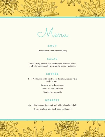 3 Course Meal Menu Templates Beautiful Food Overlay Dinner Party Menu Templates by Canva