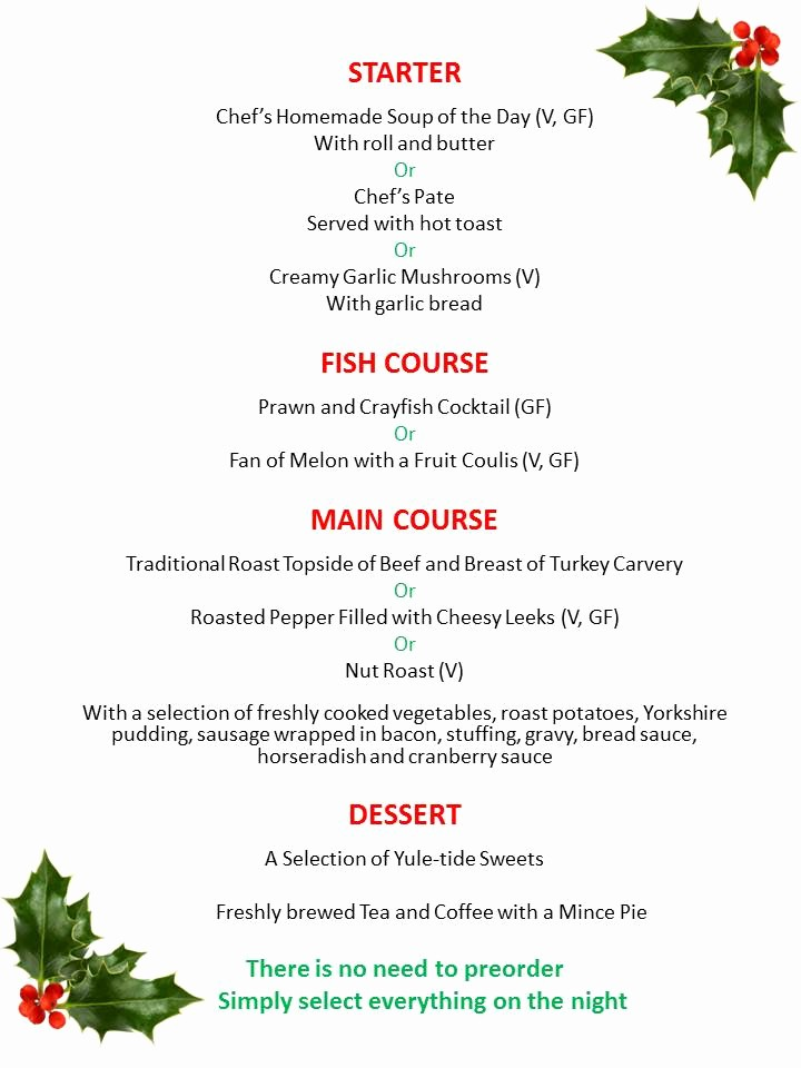 3 Course Meal Menu Templates Best Of 5 Course Christmas Party 15th Dec Oakemanor Golf Club