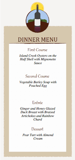3 Course Meal Menu Templates Best Of Dinner Party Menu Card and Place Card Templates